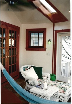 Interior Four Season Porch Addition