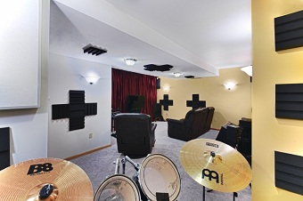 Remodeled Basement with Media/Recording room