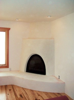 Fireplace design and created by Adams Design Construction, Ltd.