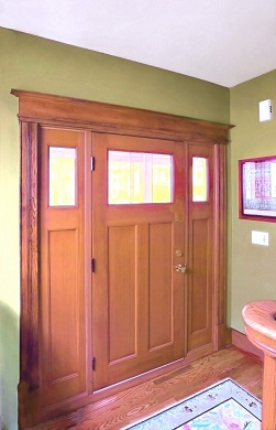 Remodeled Entryway with hand crafted door
