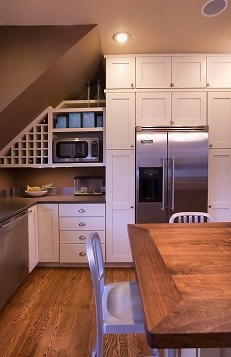 Remodeled Kitchen with custom built-ins