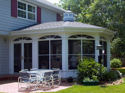 Three season sun room created more space and added value to the home
