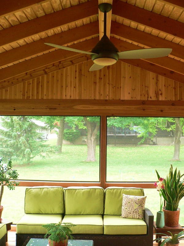 Cedar Screened Porch Addition